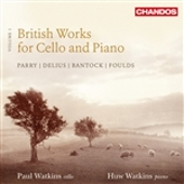 Cover picture British works for Cello and Piano Volume 1
