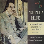 Cover picture with Delius and text